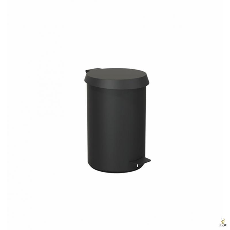 Урна с педолью средний размер FROST,  чёрная/чёрная