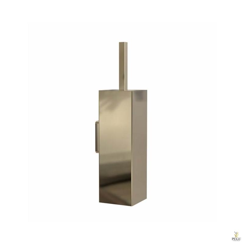WC щетка с держателем Frost QUADRA TOILET BRUSH 7 настенная золото