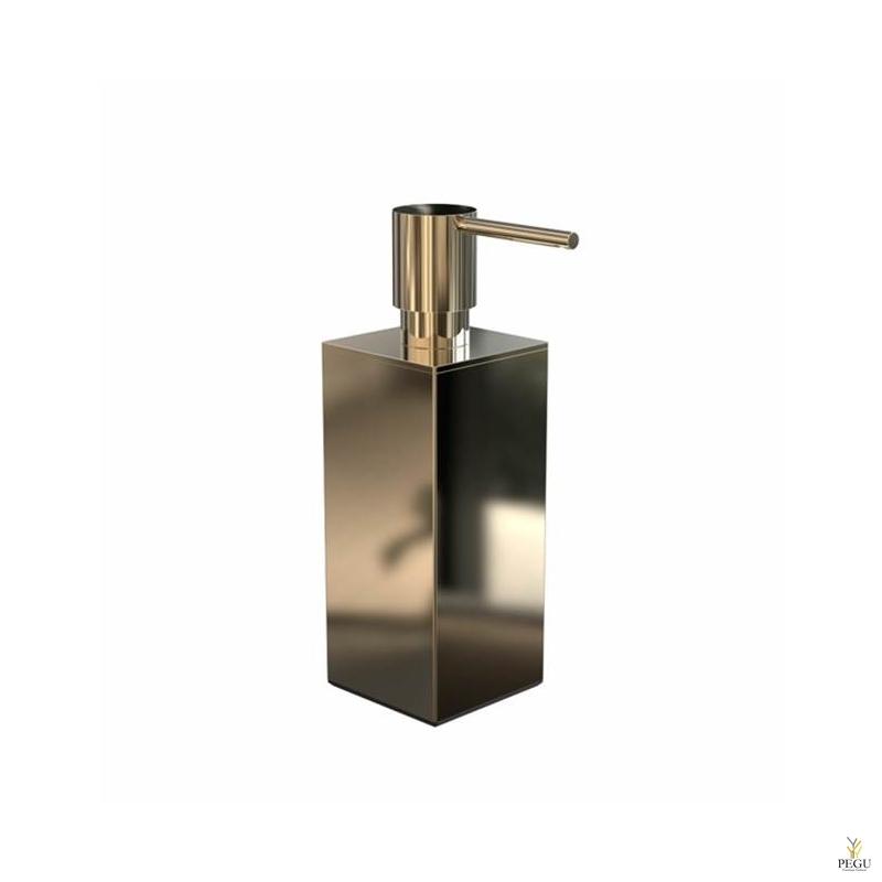Дозатор для мыла квадратный FROST Quadra 5 золото