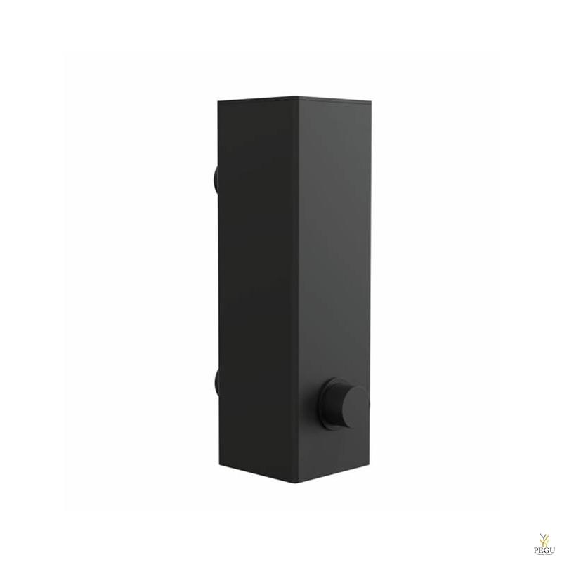 Дозатор для мыла FROST Quadra 4, настенный чёрный