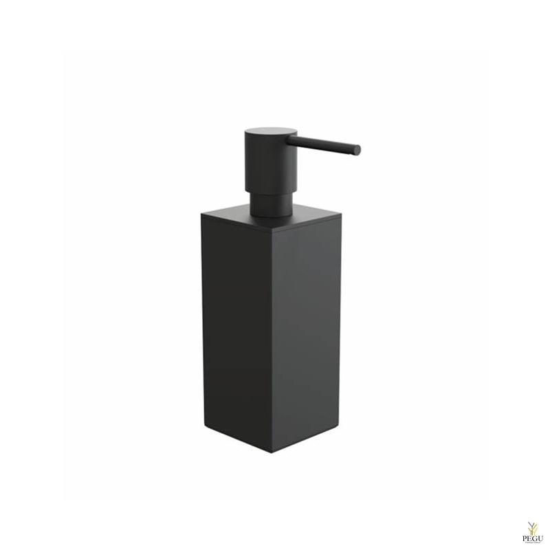 Дозатор для мыла квадратный FROST Quadra 5 чёрный
