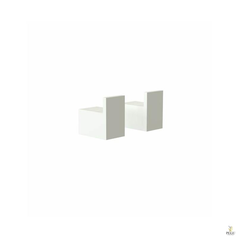Крючки 8L, 2 шт. Quadra, Белые