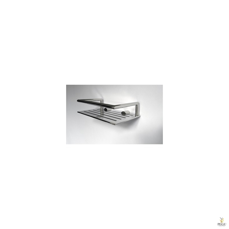 Полочка для шампуня, хром 200x120mm. Nova 2, полированая
