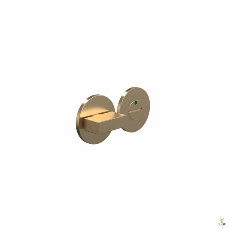 Замок для туалета с индикатором ELEMENT 2001 Modul, d50mm матовое золото