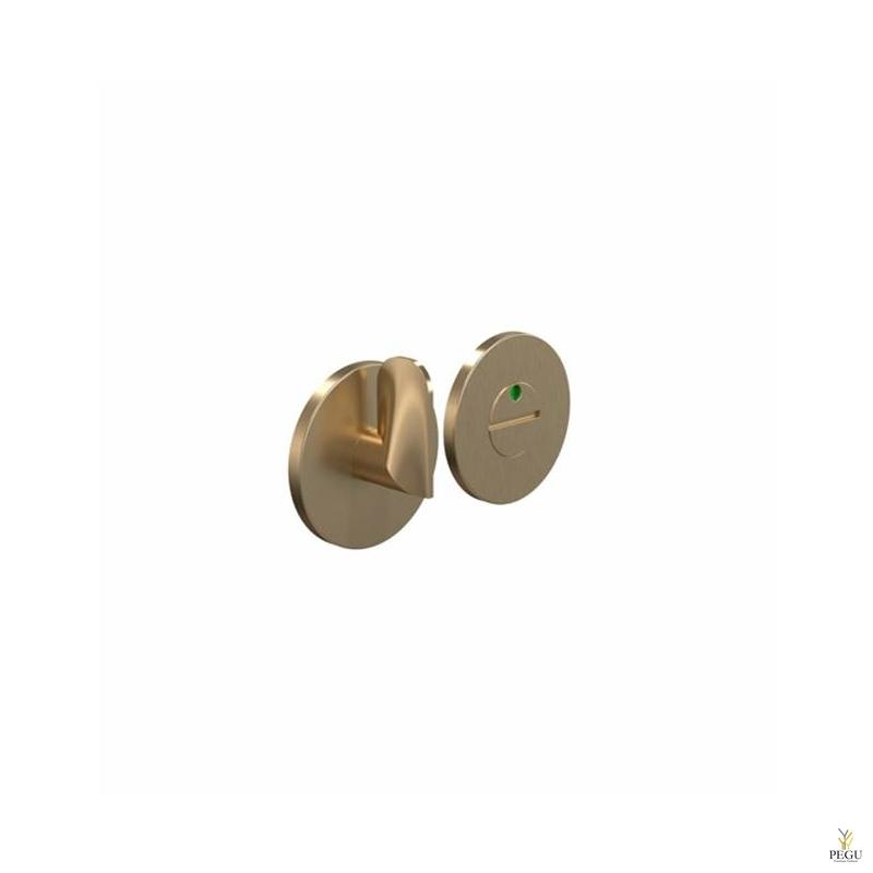 Tualett lukusti-indikaator HB202, d50mm harjatud kuld