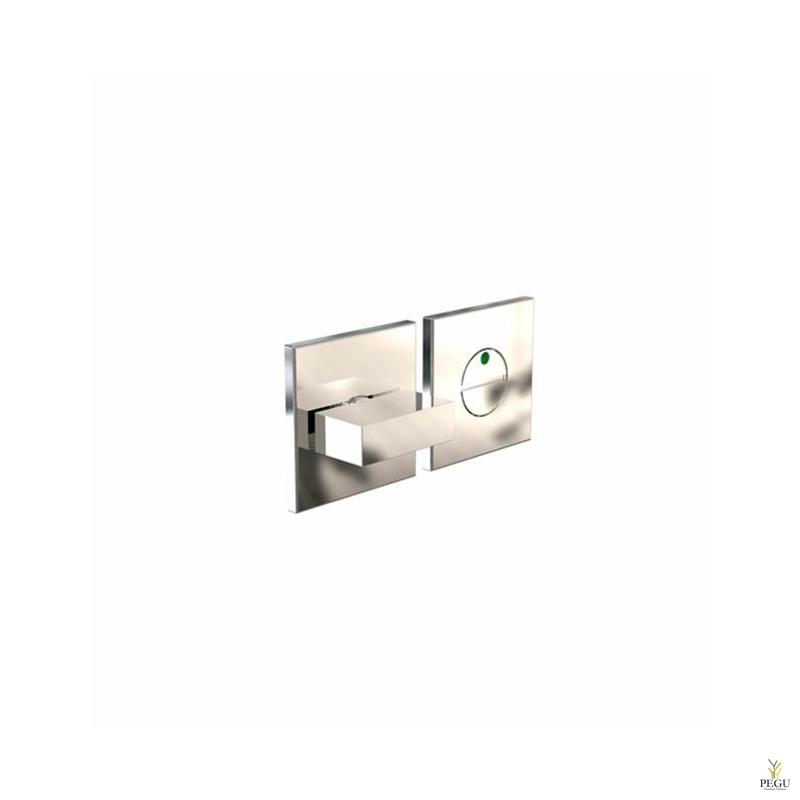 WC  замок с индикатором KUBE 2001 d50mm полированный