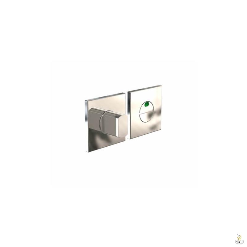 Замок для туалета с индикатором KUBE 2003 , 50x50mm полированный