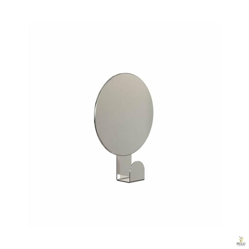 Зеркало UNU круглое с крючком, полированное