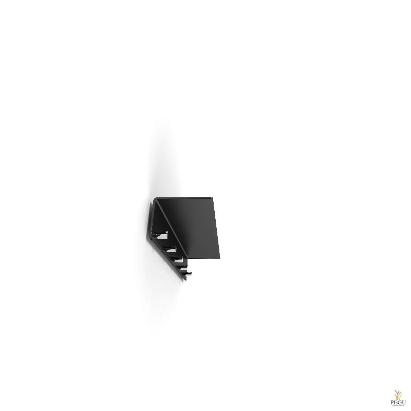 Полка для прихожей UNU, с крючками, 600mm, чёрная