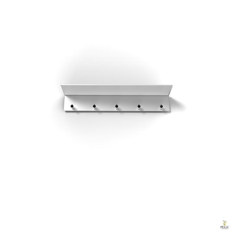 Garderoobiriiul UNU, nagidega , 600mm, valge