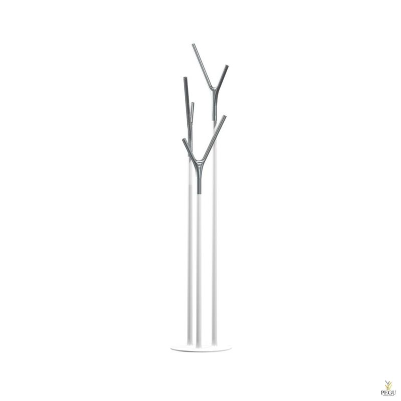 Напольная вешалка Wishbone, белый-хром