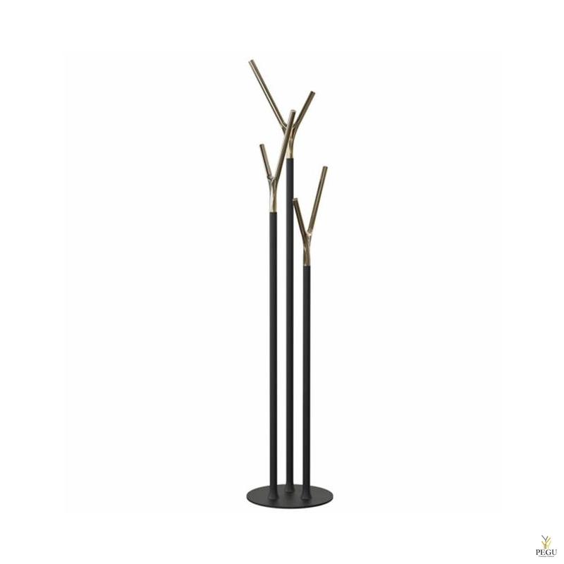 Напольная вешалка Wishbone, чёрный-золото