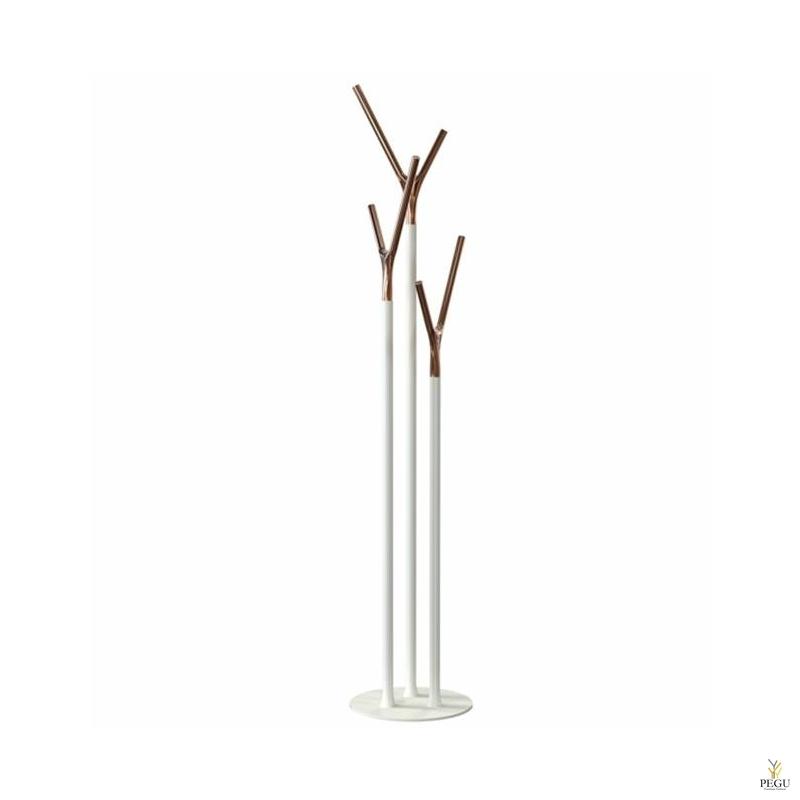 Напольная вешалка Wishbone, ,белый-медь