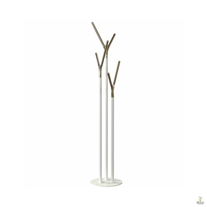 Напольная вешалка Wishbone, белый-золото