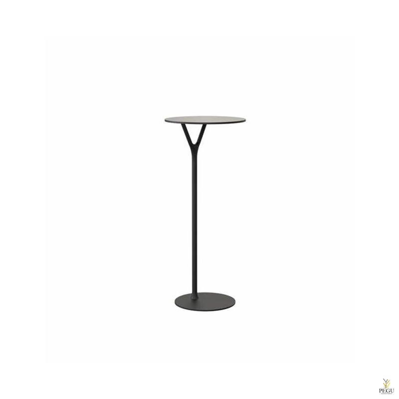 Wishbone столик, D550xH1030mm, чёрный