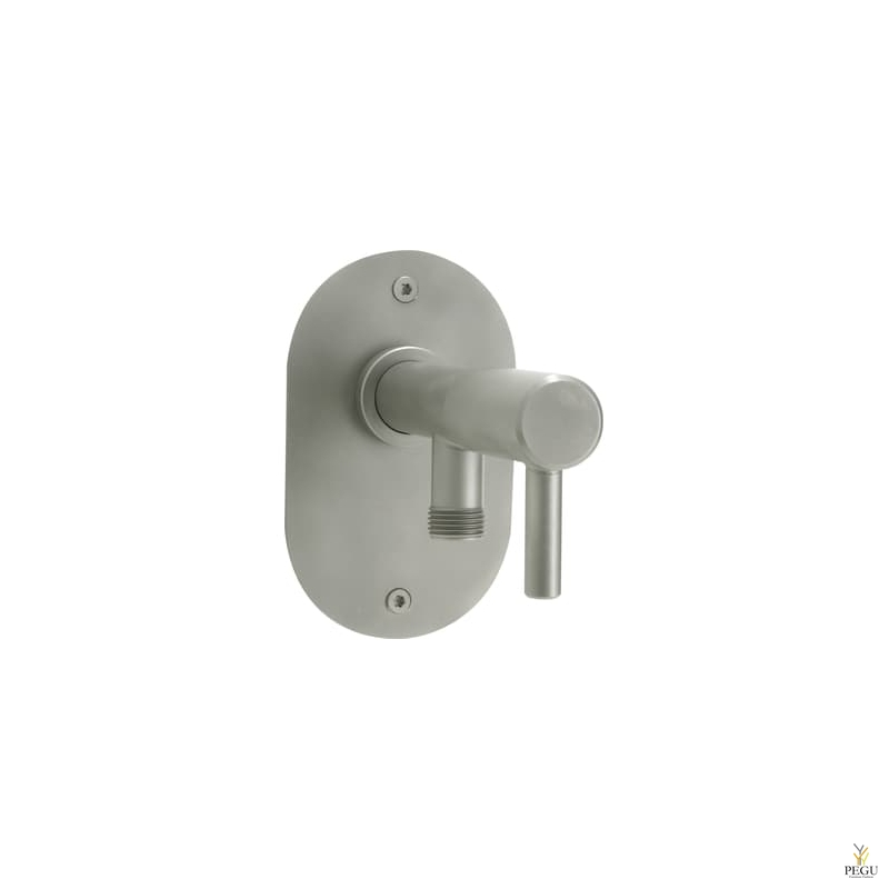 Frostline незамерзающий поливочный кран для стены 150-350 mm Н/Р сталь сатин