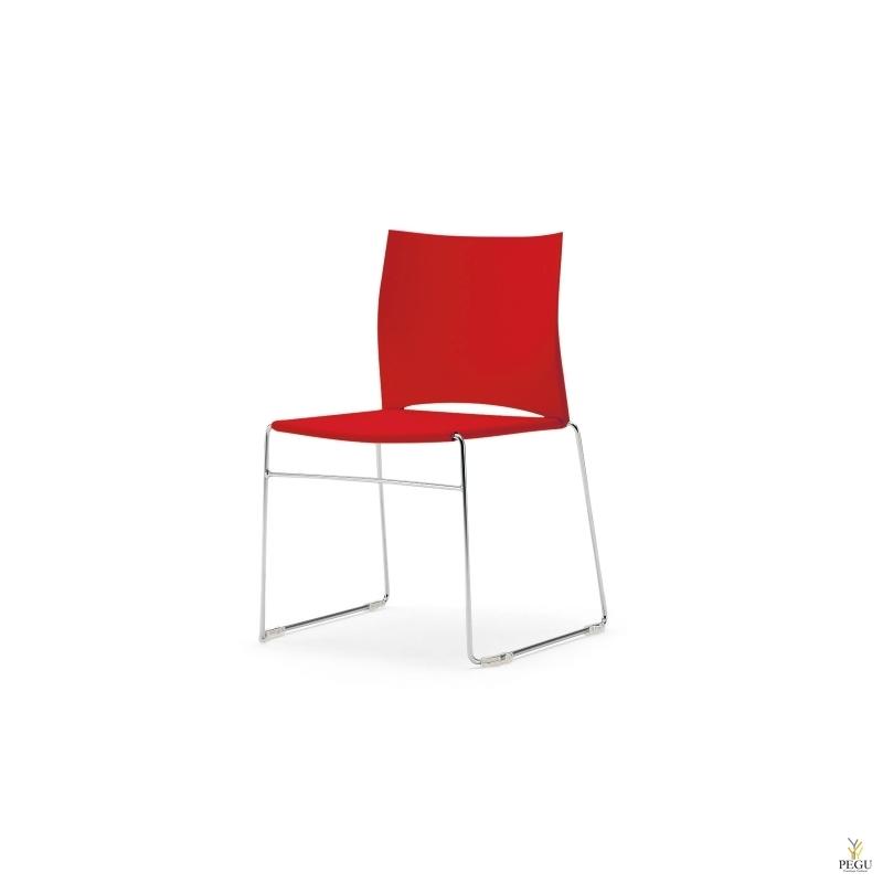 Стул WEB 950 пластик красный без ручек