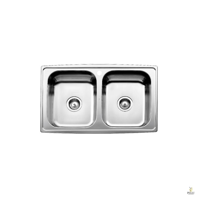 Кухонная мойка  Horizon, 2 раковины, поворотная