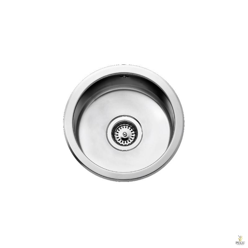 Кухонная мойка Barens C313 круглая D37,3, с донной корзинкой