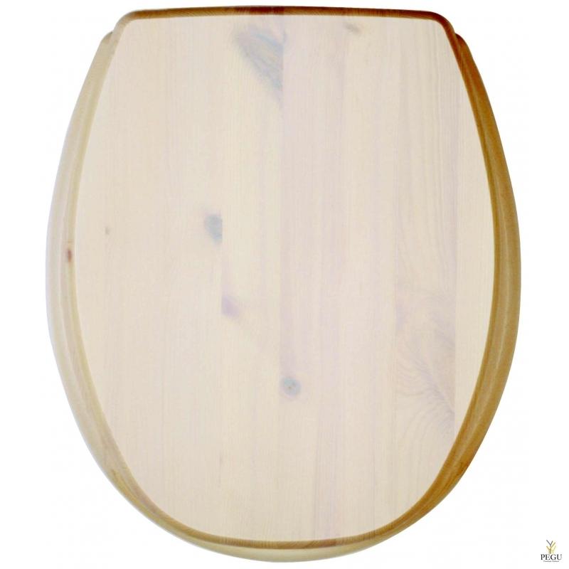 Сиденье для унитаза, Kanwood, сосна, белая глазурь, Распродажа!!!