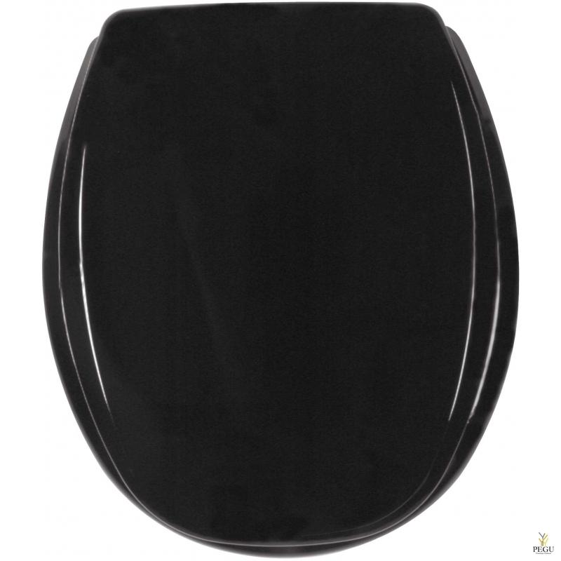 Сиденье для унитаза, чёрный толстый пластик, Распродажа!!!