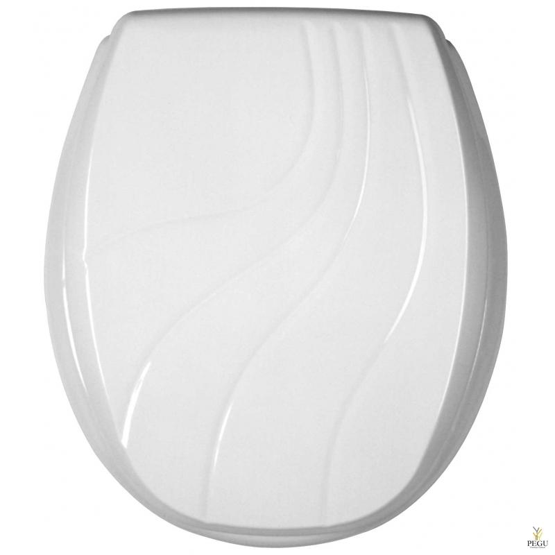 Сиденье для унитаза, цвет белый, толстый пластик, Распродажа!!!