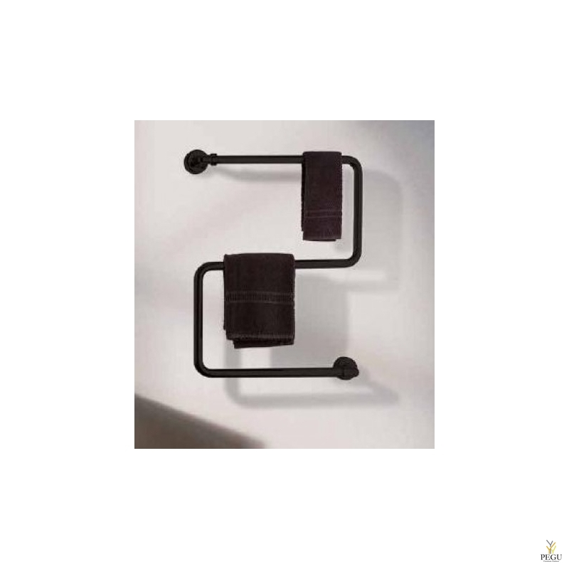 Полотенцесушитель водяной Margaroli VENTO 408 чёрный RAL латунь 660 × 527 mm