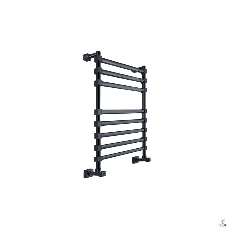 Полотенцесушитель лестница водяной Margaroli Sole 464/8TQ чёрный латунь 752x490 mm