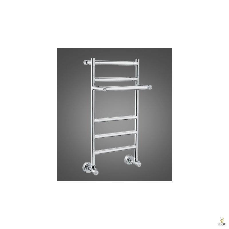 Полотенцесушитель лестница с полкой водяной Margaroli SERENO 487M хром латунь 500x705 mm