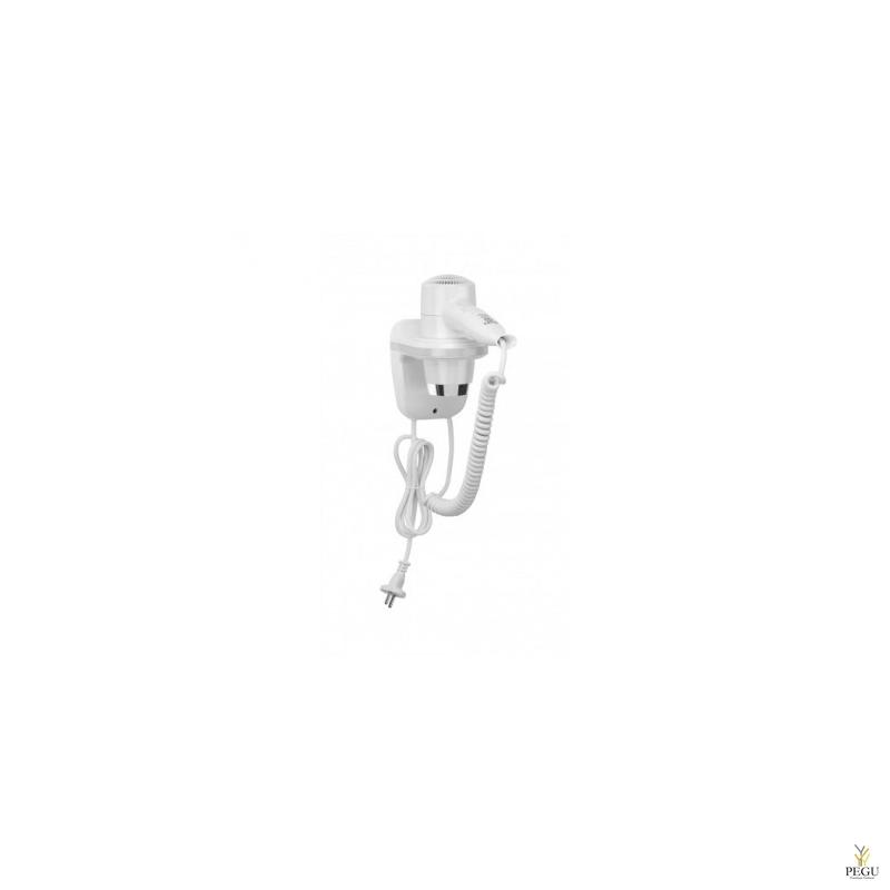Настенный фен белый/серебристый 1800 W,  со штекером НОВИНКА!