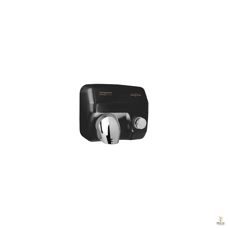 Рукосушитель Saniflow 05, с кнопкой, сталь чёрный