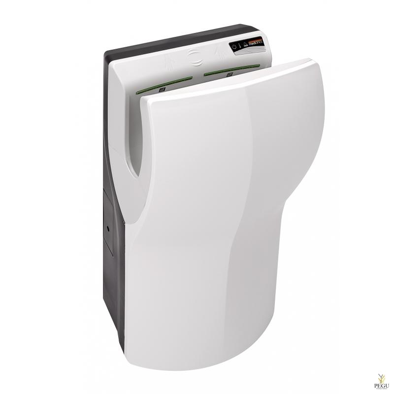 Электрический рукосушитель без щёток Mediclinics Dualflow PLUS M24, сенсор, белый ABS