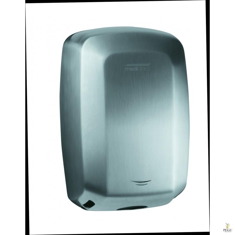 Kätekuivati Mediclinics Machflow+HEPA filter. Harjatud roostevaba teras AISI304