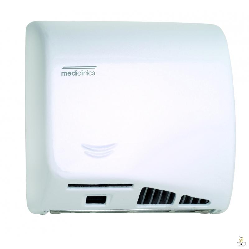 Mediclinics Kätekuivati  sensoriga Speedflow® Plus HEPA filtriga, valge teras