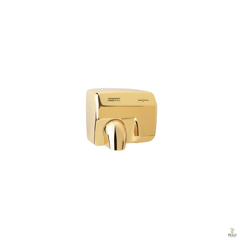 Электрический рукосушитель Mediclinics Saniflow , сенсор, сталь Gold plating
