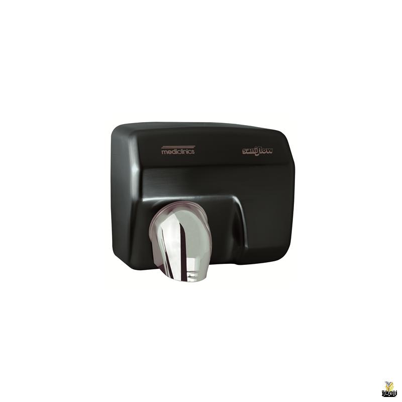 Электрический рукосушитель Mediclinics Saniflow , сенсор, сталь, черный