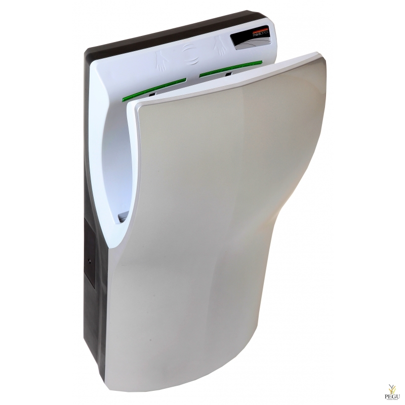 Kätekuivati Mediclinics Dualflow PLUS HEPA filtriga ja ionisaatoriga, sensoriga hõbedane ABS
