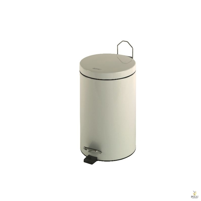 Pedaaliga urn 12L valge (teras)