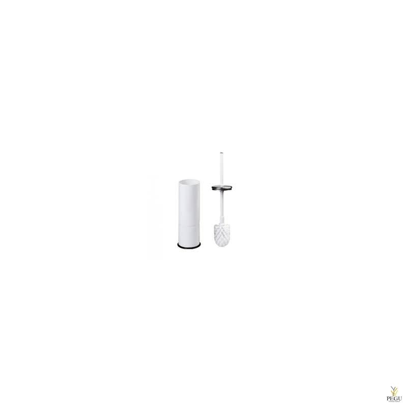 WC ёршик и держатель сталь, белая эмаль