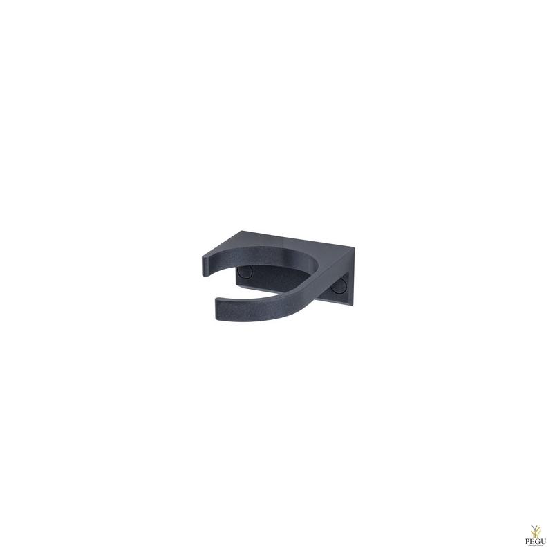 Jalutuskepi/kargu hoidik seinale Normbau 091 must RAL9005 antibakteriaalne värv