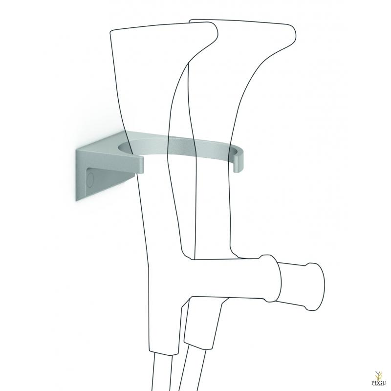 Jalutuskepi/kargu hoidik seinale Normbau 096 metallik antibakteriaalne värv