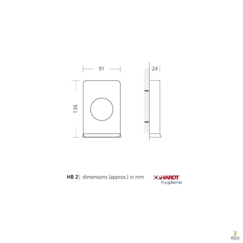 Дозатор для гигиенических салфеток, Н/Р сталь , черный RAL9005
