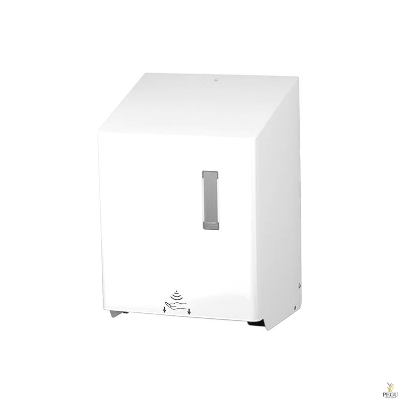 Бесконтактный дозатор для полотенец рулонный HTU 1 P Н/Р сталь белый RAL9010