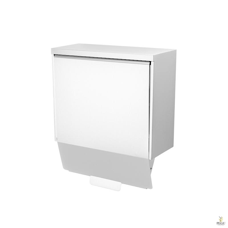 Гигиеническая урна Ingo-slide 15 P hands-free 15L Н/Р сталь белая RAL9010