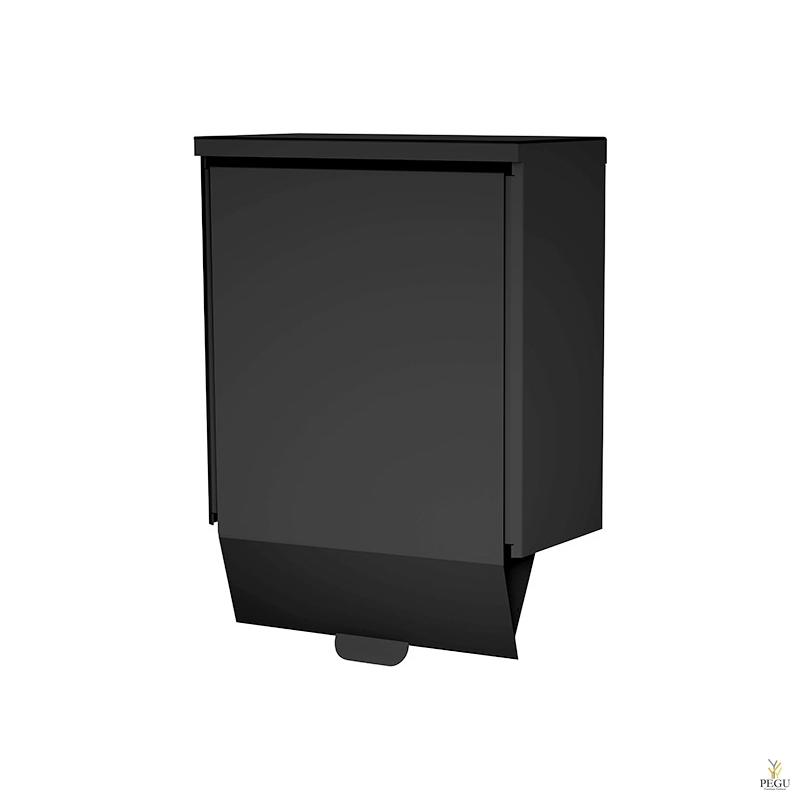 Гигиеническая урна Ingo-slide 25 P hands-free 25L Midnight RAL9005 Н/Р сталь матовый чёрный