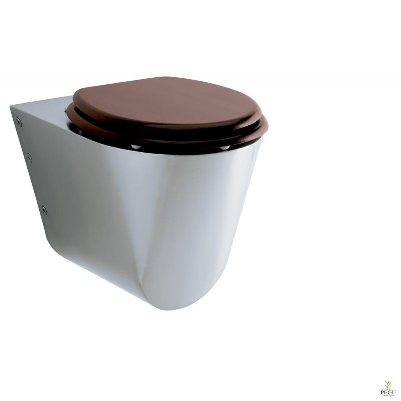 Portinox WC подвесной INS-535-OVC + сидение махагон