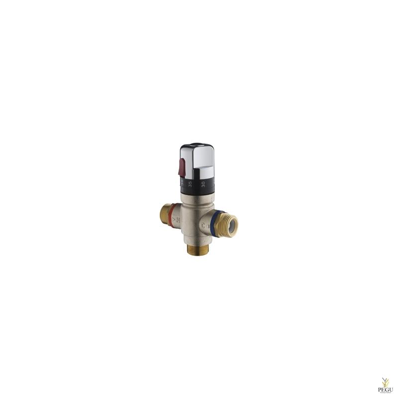 Termoregulaator kroomnupuga, 5 valamu, või 3 duši, 45L/min 3bar