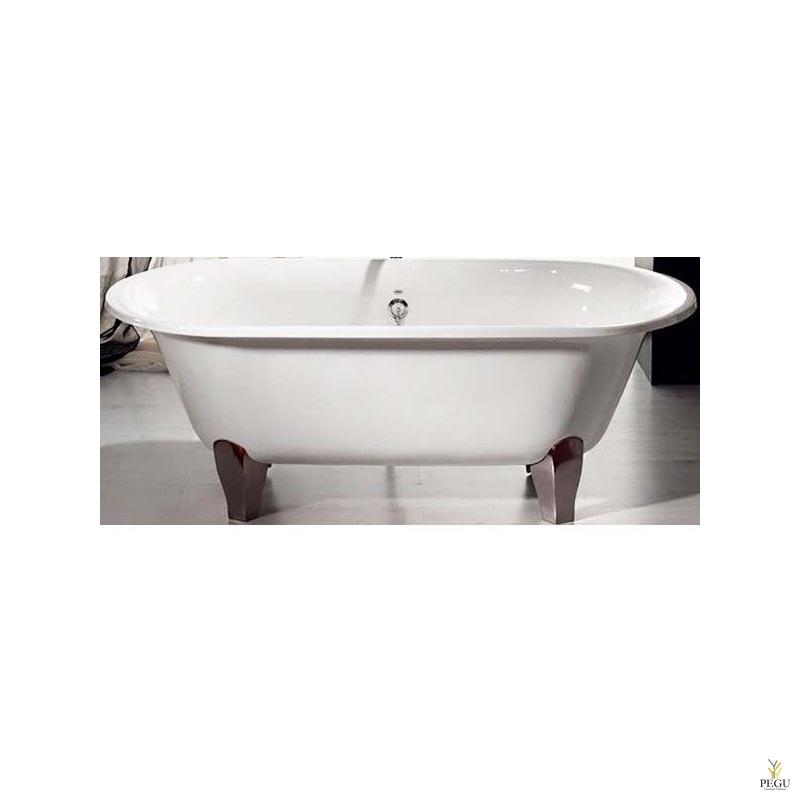 Чугунная ванна RECOR Lyra, 177 x 79, Белое внешнее покрытие,  ножки чугун хром