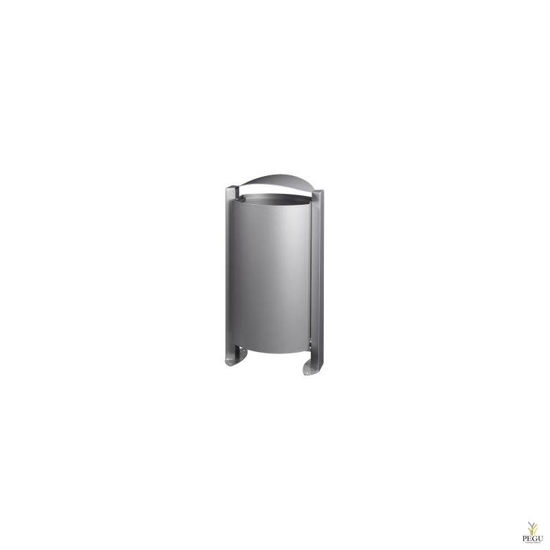 Prügikast välitingimusele ARKEA 100L metall hall RAL9006
