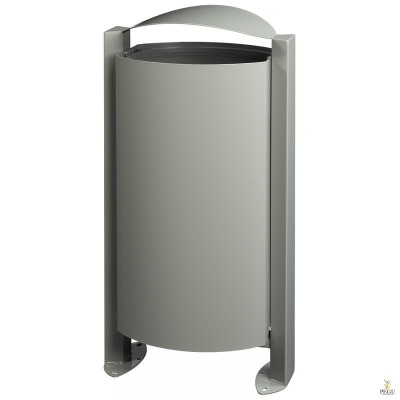 Уличная мусорница ARKEA 100L серый цемент RAL7033